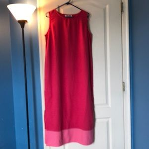 Long Pink Linen Dress